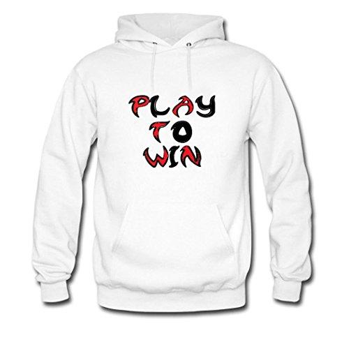 HKdiy Play to Win Custom Men's Printed Hoodie White-2