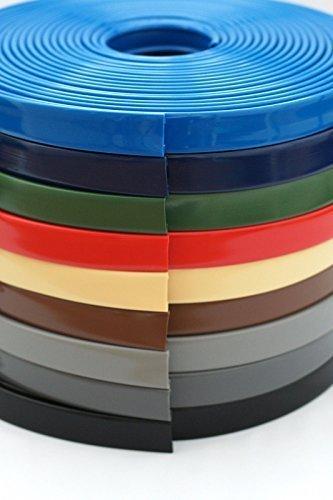 1 m PVC Kunststoff Handlauf, Treppenhandlauf 40x8 mm verschiedene Farben (schwarz)