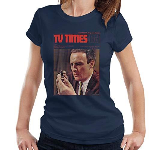 TV Times Edward Woodward 1967 Cover Women's T-Shirt - Man-shirt Wicker