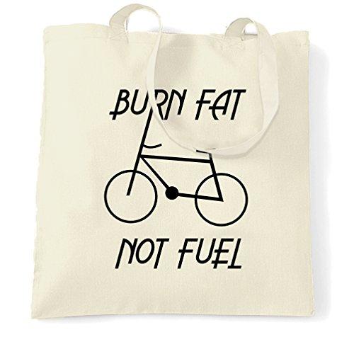 Eco Friendly Tragetasche Fett verbrennen, nicht Brennstoff - Zyklus Logo Natural One Size