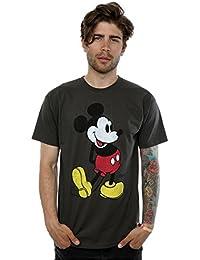 Disney Homme Mickey Mouse Classic Kick T-shirt XXX-Large Graphite Lumière