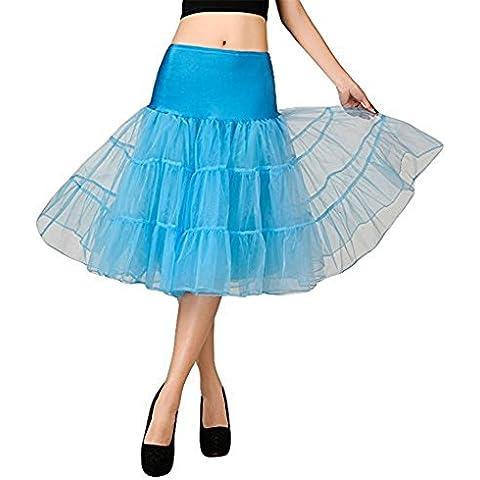 Hosaire 1X Sottogonna battenti Vintage Petticoat Fancy Net Gonna Rockabilly Tutu (Azzurro), Le ragazze e le donne sono la scelta migliore, Gonne,M
