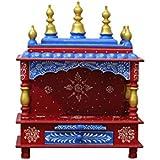 MVEE Wooden Home Temple/Pooja Mandir/Mandapam/Small Temple (38 cm x 20 cm x 51 cm)