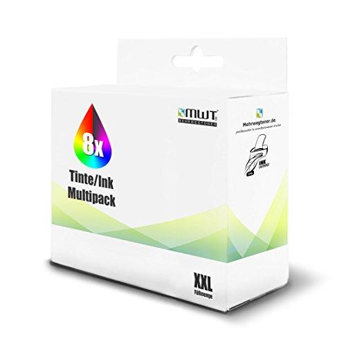 8x MWT Tintenpatronen für Lexmark Prospect Pro 202 205 208 209 wie 100XL 100 XL Set -