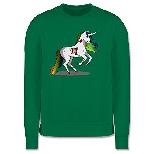 Comic Shirts - Zombie Einhorn - Herren Premium Pullover Grün