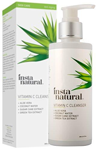 InstaNatural Vitamin C Gesichtsreiniger - Anti-Aging-Gesichtsdusche gegen Pickel & Falten, für klare & verfeinerte Poren - Natürliche Inhaltsstoffe - Für fettige, trockene & empfindliche Haut - 200 ml - Retinol Glykolsäure