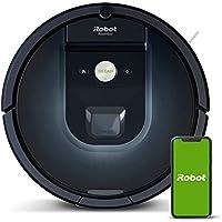 Robot aspirador iRobot Roomba 981 Alta potencia y Power Boost, Recarga y sigue limpiando, Óptimo mascotas, Cepillos antienredos, Dirt Detect, Sugerencias personalizadas, Compatible asistentes voz