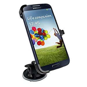 Car Windshield Mount Holder Cradle for Samsung i9500 Galaxy S4 IIII with MicroUSB In Car Charger