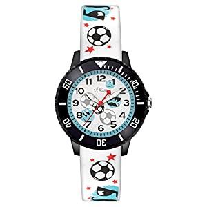 s.Oliver Time Jungen Zeitlernuhr Quarz Laikrodis mit Silikon Armband SO-3408-PQ