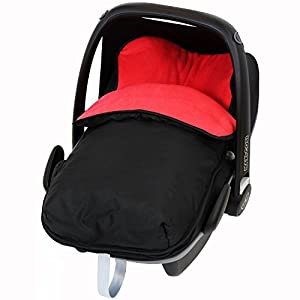 Universal Car Seat Footmuff To Fit Maxi Cosi Pebble - Red (Black / Red)