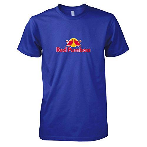 TEXLAB - Red Pumbaa - Herren T-Shirt, Größe L, (Kostüm Pumba Timon)