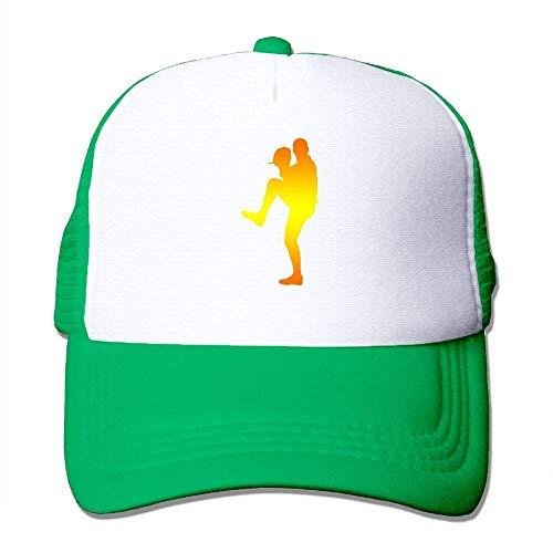 deyhfef Baseball Silhouette Print Adjustable Trucker Sun Hats Mesh Sports Baseball Caps Multicolor57 - Ausgestattet Print Cap