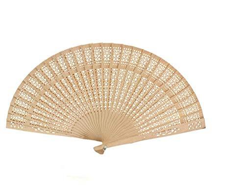 r,Chinesische Hohl Faltfächer Original Holz Hand Blume Bambus Taschenfächer Für Wohnkultur Fiestas Wanddekoration Tanzfächer ()