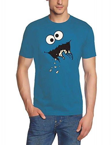 Kekse ! COOKIE MONSTER T-Shirt, Stoneblue GR.XL (Bert Und Ernie Kostüme Kinder)