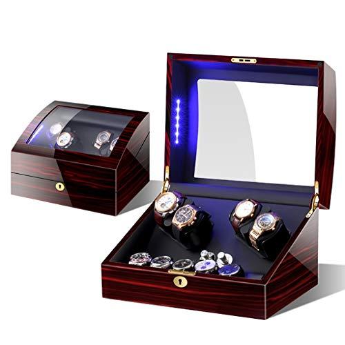 SXM Quad Automatic Watch Winders Display Aufbewahrungsboxen for 4 + 6 Uhren mit LED-Licht und leisen Motoren (Color : D) -