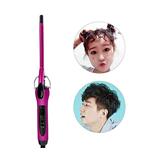 Fer à friser Automatique Paresseux (9mm/13mm/22mm/25mm/28mm/32mm), Boucleur Conique Automatique Chauffant en Céramique, Créer des Cheveux Wave, Boucle, Rouleau, Crêpelés, Anti-brûlure 9mm