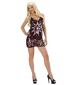 WIDMANN Señoras Vestido de Lentejuelas Estrellas Vestuario Medio Reino Unido 10-12 de 70 Disco del Vestido