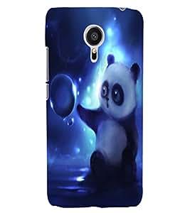 ColourCraft Cute Panda Design Back Case Cover for MEIZU MX5