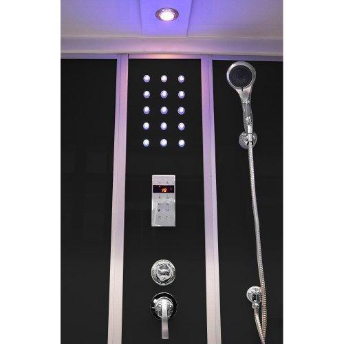 Home Deluxe Diamond schwarz Duschtempel inklusive Whirlpool und Dampfsauna - 3