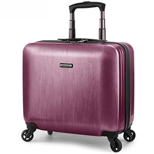 OTLLE PC 16-Zoll-Trolley-Fall abnehmbare Computertasche Geschäftsleute bevorzugte Reise-Universal-Rad-Trolley-Koffer Suitase (Farbe : Red, größe : 16inch)