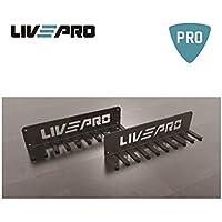 LivePro - Espositore da Parete a Muro Rack Mutiuso per Elastici Corde Cinture Muli-Use Hangers