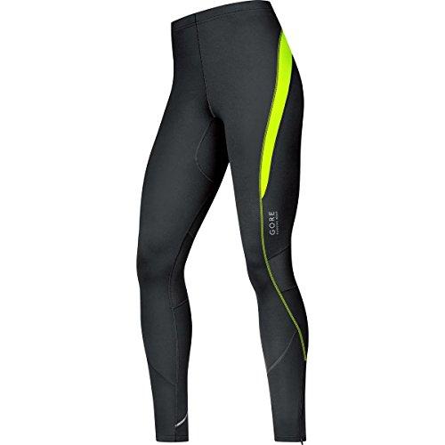 Gore Running Wear, Mallas Para Correr Para Hombre, Negro/Amarillo Neón, XL