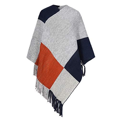 PLOT Schals für Damen Herbstschal Modische Kariert Pashminas Winter Warm Cape Winterschal Poncho Tücher Stolen Umschlagtuch Umschlagtücher Stola mit Quaste