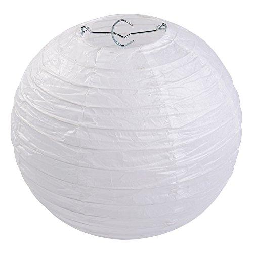 """LIHAO 8"""" weiße Papier Laterne Lampion rund Lampenschirm Hochtzeit Party Dekoration Ballform (10er Packung)"""