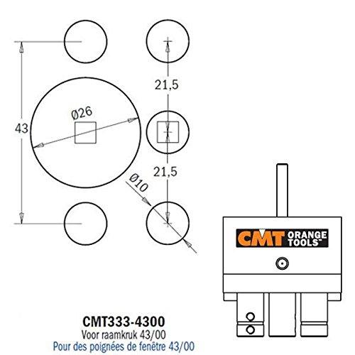 CMT Orange Tools 333-4300 CMT-tête modulaire charnières 43/00 (cremonese)