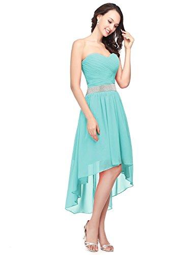 Clearbridal Damen Chiffon Bandeau Ballkleid Cocktailkleid Abendkleid Abschlusskleider Asymmetrisch...