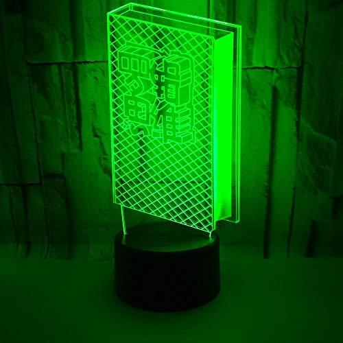 3D Lámpara Libro lampara ilusion óptica colores