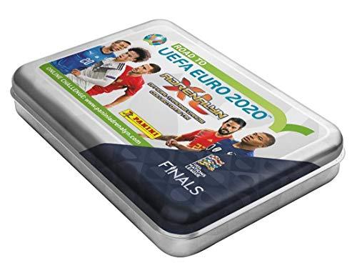 Panini 097573D Sammelkarten Road to Euro 2020, Pocket Tin mit 4 Boostern und limitierter Karte, bunt -