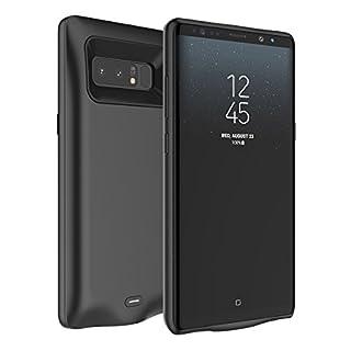 Samsung Galaxy Note 8 Ultra dünnes Akku Case Hülle Handyhülle 5000mAh [Stoßfest] [Anti-Rutsch] Batterie Case eingebautem Akku für Samsung Galaxy Note 8 (Schwarz)