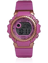 Horo (Imported) Pink-Rose Gold Kids Digital Water Resistant Sports Wrist watch 18 months Warranty