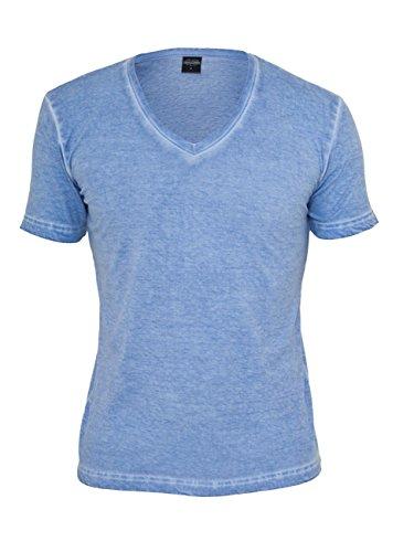 Urban Classics Herren T-Shirt Spray Dye V-Neck Tee Mint