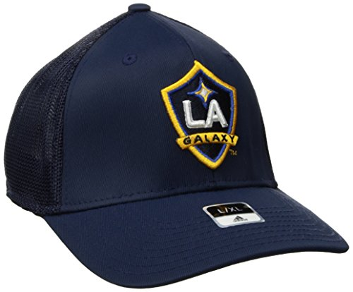adidas MLS SP17 Fan Wear Tactel Trucker Flex Gap, Herren, MLS SP17 Fan Wear Tactel Trucker Flex Cap, Navy, Small/Medium Tactel Flex-cap