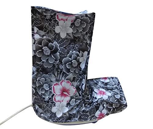 SUVE Printed Flower Design L Shape Mixer Grinder Cover (Multicolour, Free Size)