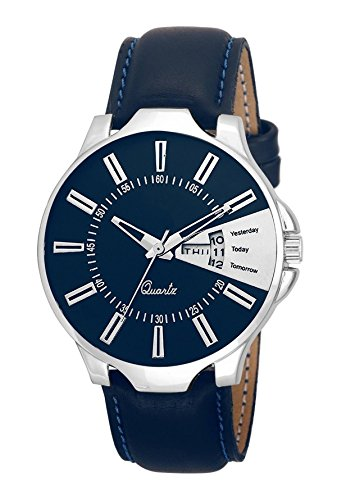 Codice Analogue Blue Dial Day & Date Round Shape Watch For Men's & boy's (ABCD-2)