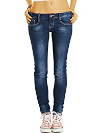 Bestyledberlin Damen Basic Röhrenjeans, Klassische Slim Fit Jeans, Robuste Stretch Jeans j63f
