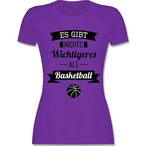 Shirtracer Basketball - ES Gibt Nichts Wichtigeres Als Basketball - Damen T-Shirt Rundhals Lila