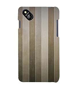 Brown Line Pattern 3D Hard Polycarbonate Designer Back Case Cover for Micromax Bolt D303