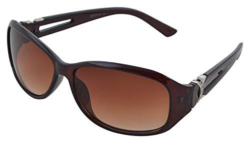 Modish Look Farbverlauf cat-eyed Frauen Sonnenbrille (60mm|) (braun, braun)