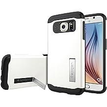 Spigen SGP11326 - Funda para Samsung Galaxy S6, Blanco/Negro