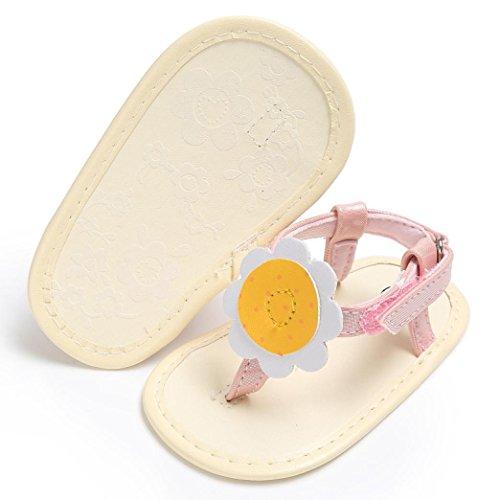 Baby Sandals Flops Sandalen Bohemia Mädchen Pink Sommer Strand Blumen Flip Bzline® Flat pn6dXx0p