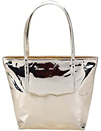 CarryWalk women s Metallic Tote Waterproof Bags Casual Women With Zipper  Material Is Pu. b15db6db5ceaa