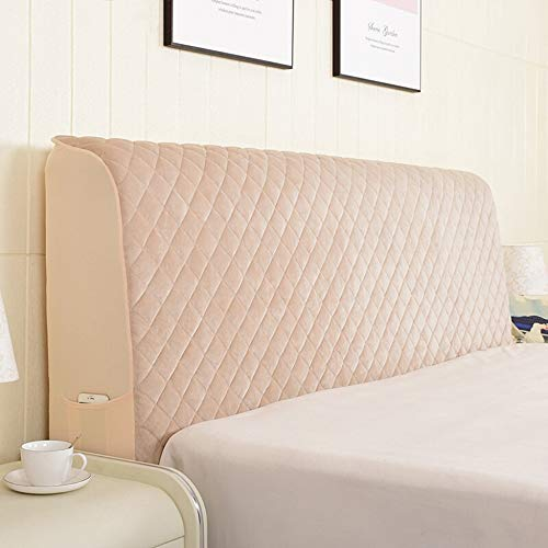 Stepp All-inclusive Bed Headboard Cover Schonbezug Bedside Decoration Protector Staubschutz Dustproof Waschbar Für Schlafzimmer Dekor,Camel-160 * 75cm ()