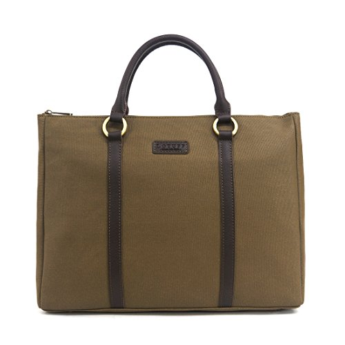 LOTUFF ,  Aktentasche BRITISH GREEN khaki
