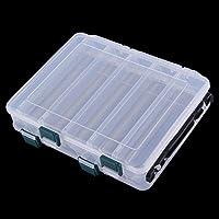 Kurphy Pesca, plástico Transparente tamaño portátil de Doble Capa señuelos de Pesca trastos Ganchos cebos Caja de Almacenamiento de la Caja Accesorios de Pesca