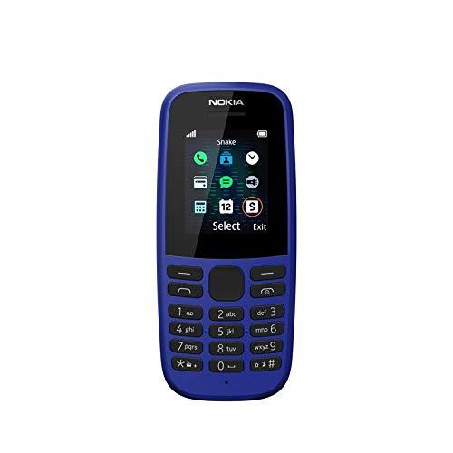 Nokia 105 2019 (Single SIM, Blue)