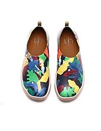 UIN Embrasade Chaussures Bateaux de Toiles Comfortable Violet pour Femme (36)